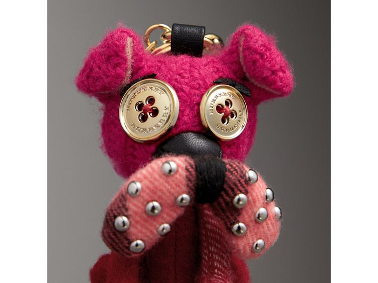 Seymour The Bull Dog Cashmere Charm in Parade Red - Women | Burberry - cell image 1