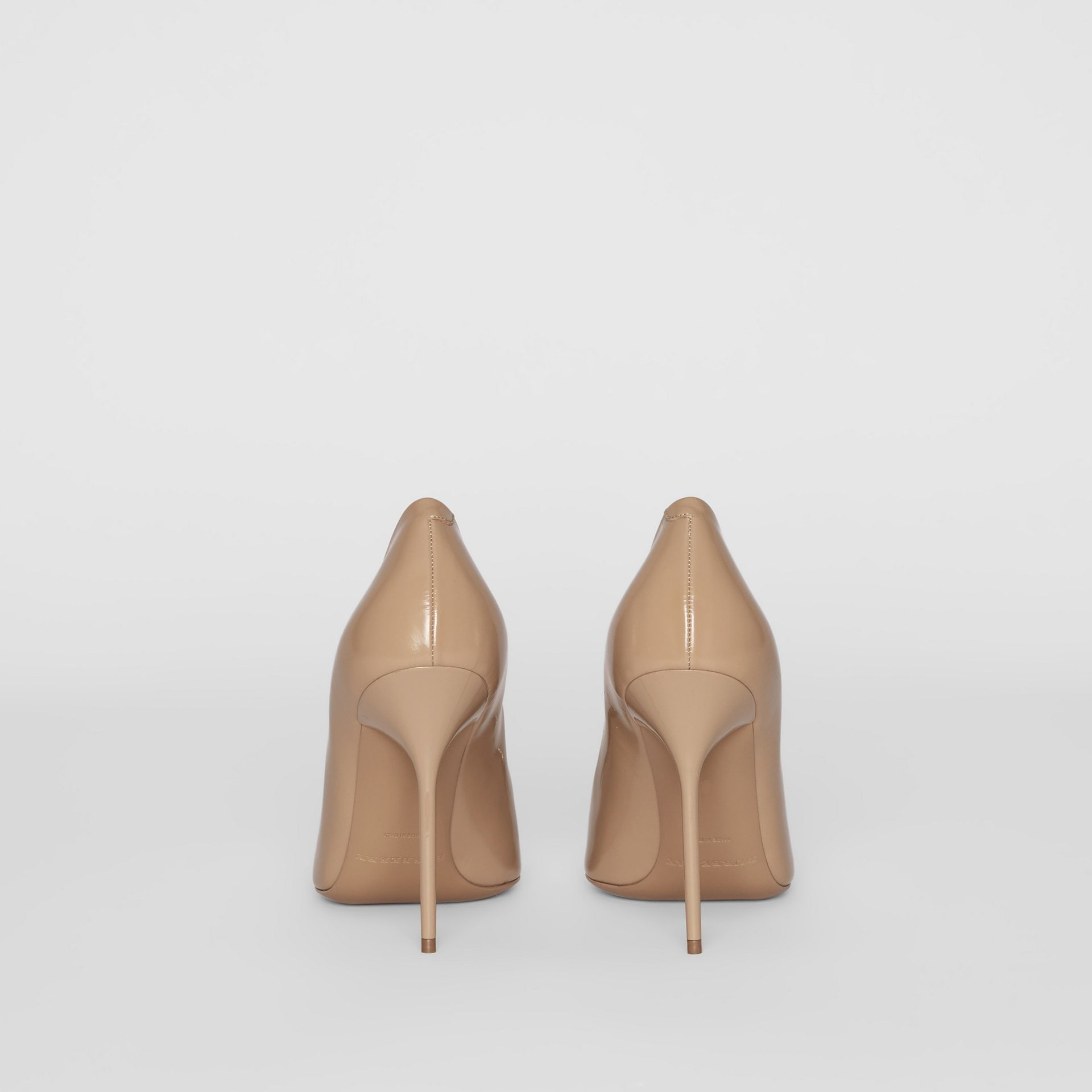 The Leather D-ring Stiletto in Nude Blush - Women | Burberry - gallery image 4