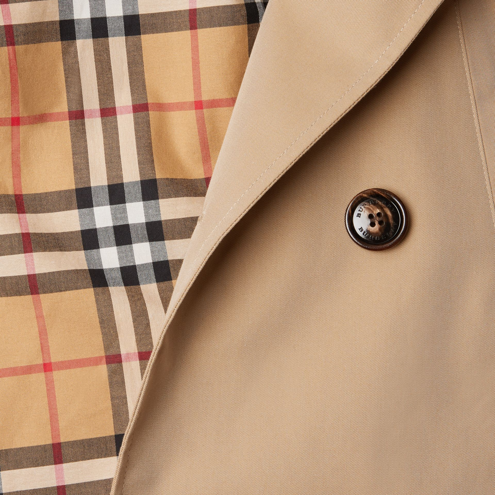 Cotton Gabardine Trench Coat in Honey | Burberry - gallery image 1
