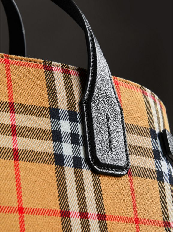 The Medium Banner in Vintage Check and Leather in Black - Women | Burberry Hong Kong - cell image 1