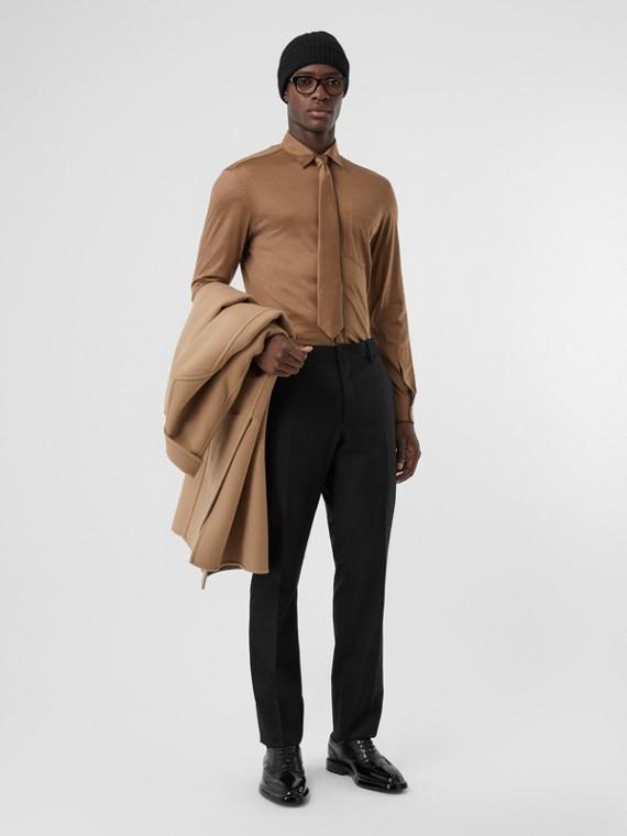 Классические брюки из шерстяной ткани (Черный)