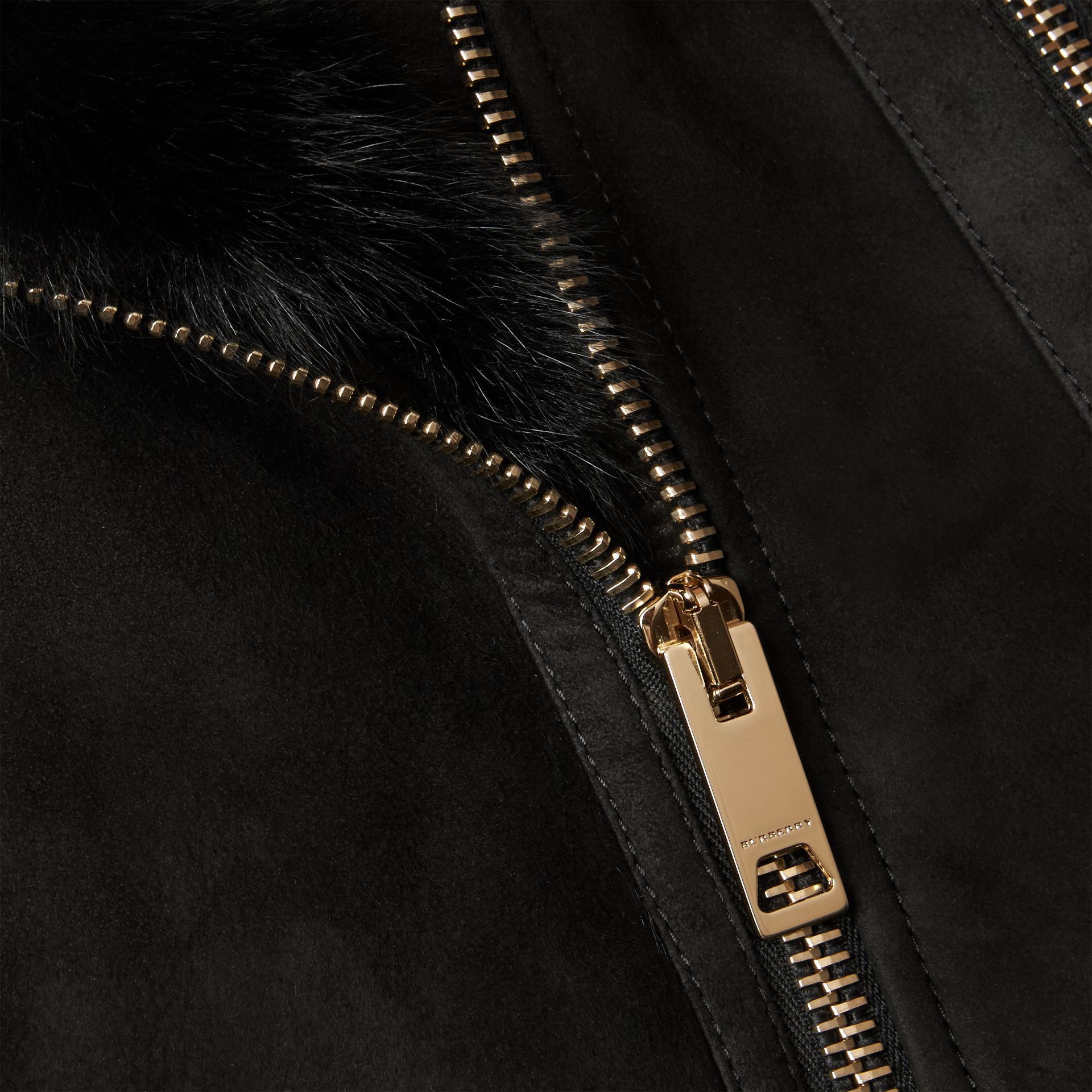 Black Shearling Gilet Black - gallery image 2