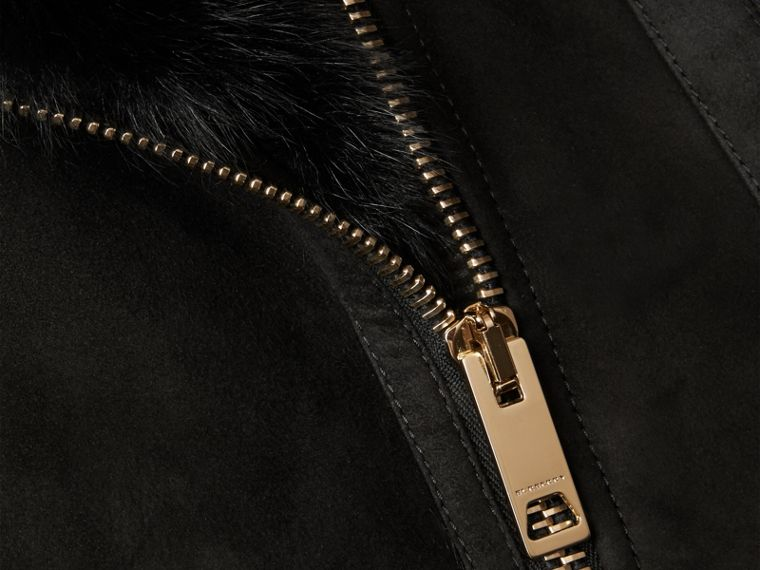 Black Shearling Gilet Black - cell image 1