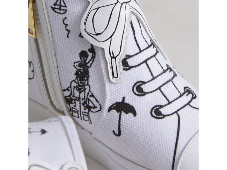 Doodle Print High-top Trainers | Burberry - cell image 1