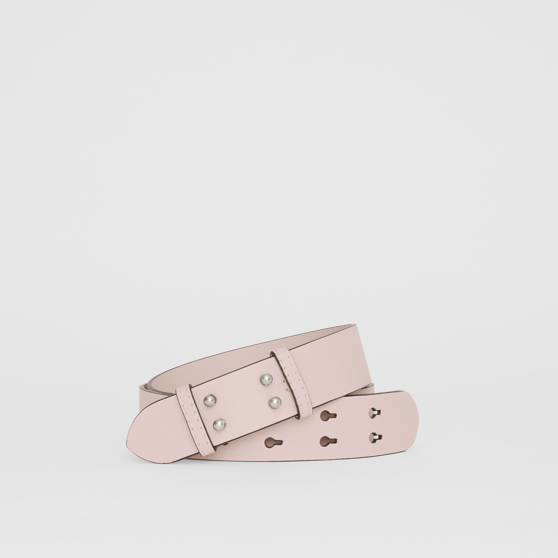 The Medium Belt Bag Grainy Leather Belt in Chalk Pink - Women | Burberry United States - gallery image 0