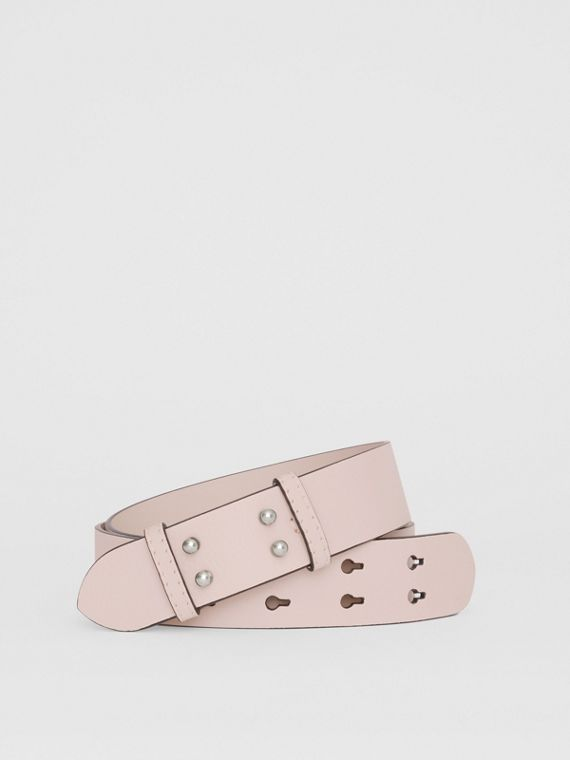 The Medium Belt Bag Grainy Leather Belt in Chalk Pink
