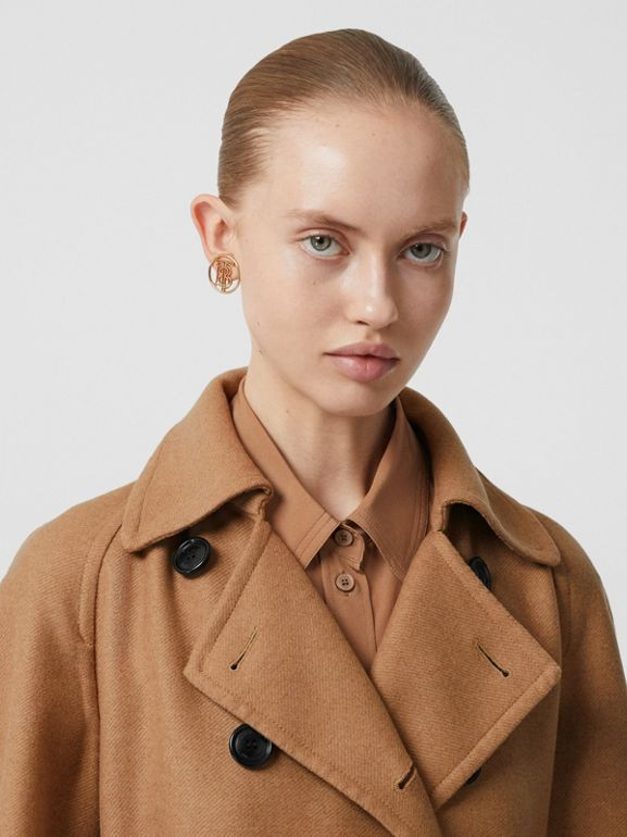 Cashmere Trench Coat in Bronze - Women | Burberry - cell image 1