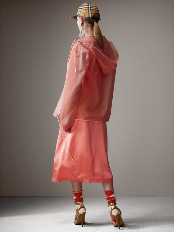 Soft-touch Plastic Cagoule in Rose Pink - Women | Burberry Singapore - cell image 2