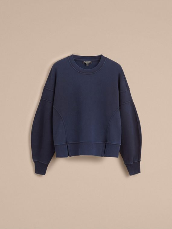 Puff-sleeve Cotton Jersey Sweatshirt - Women | Burberry - cell image 3