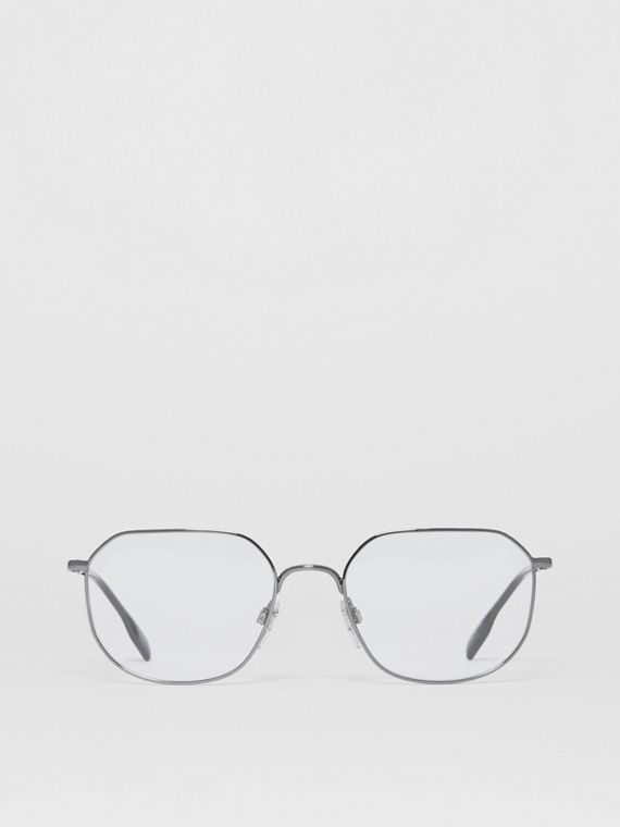 Square Optical Frames in Gunmetal Grey