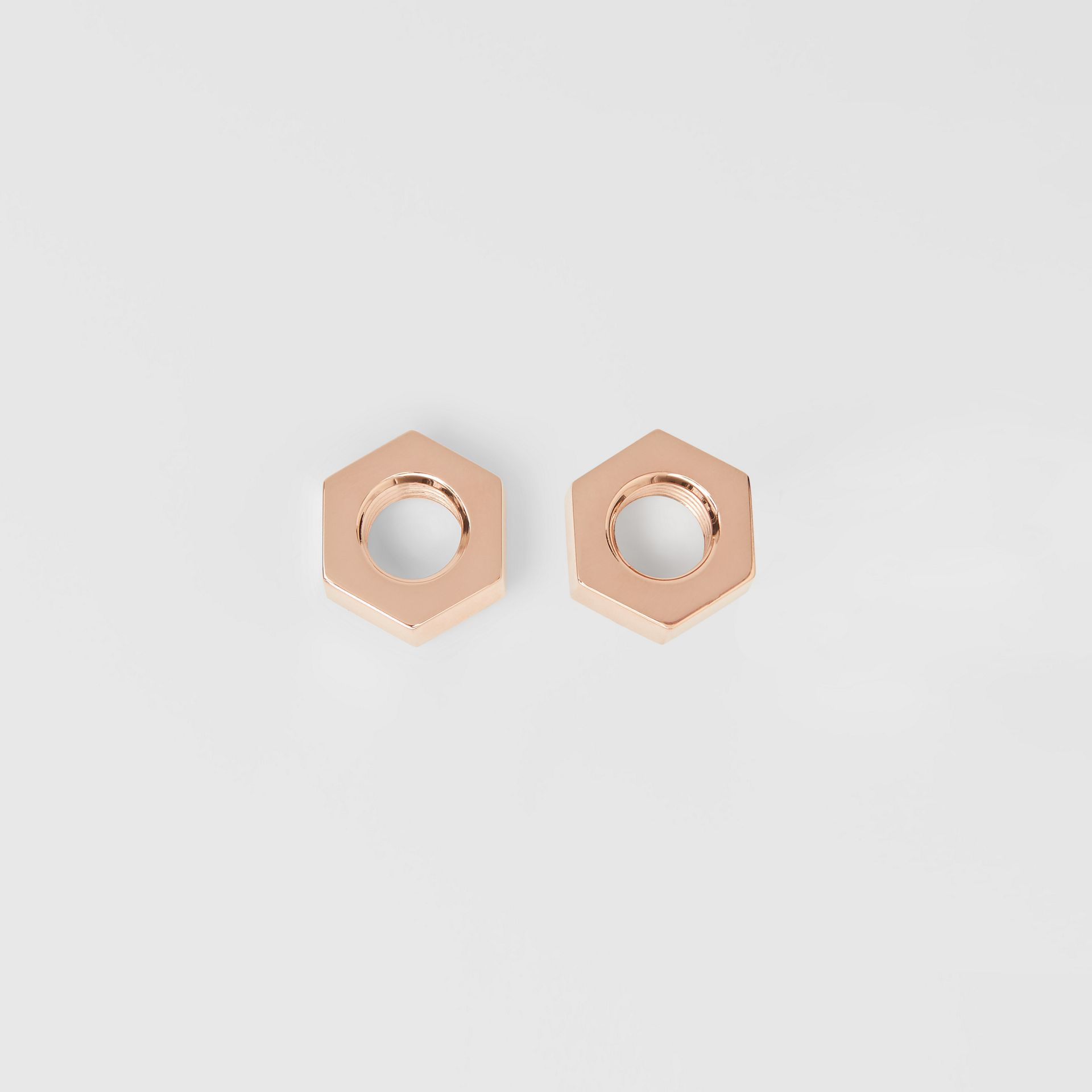 Rose Gold-plated Nut Earrings - Women | Burberry Singapore - gallery image 0