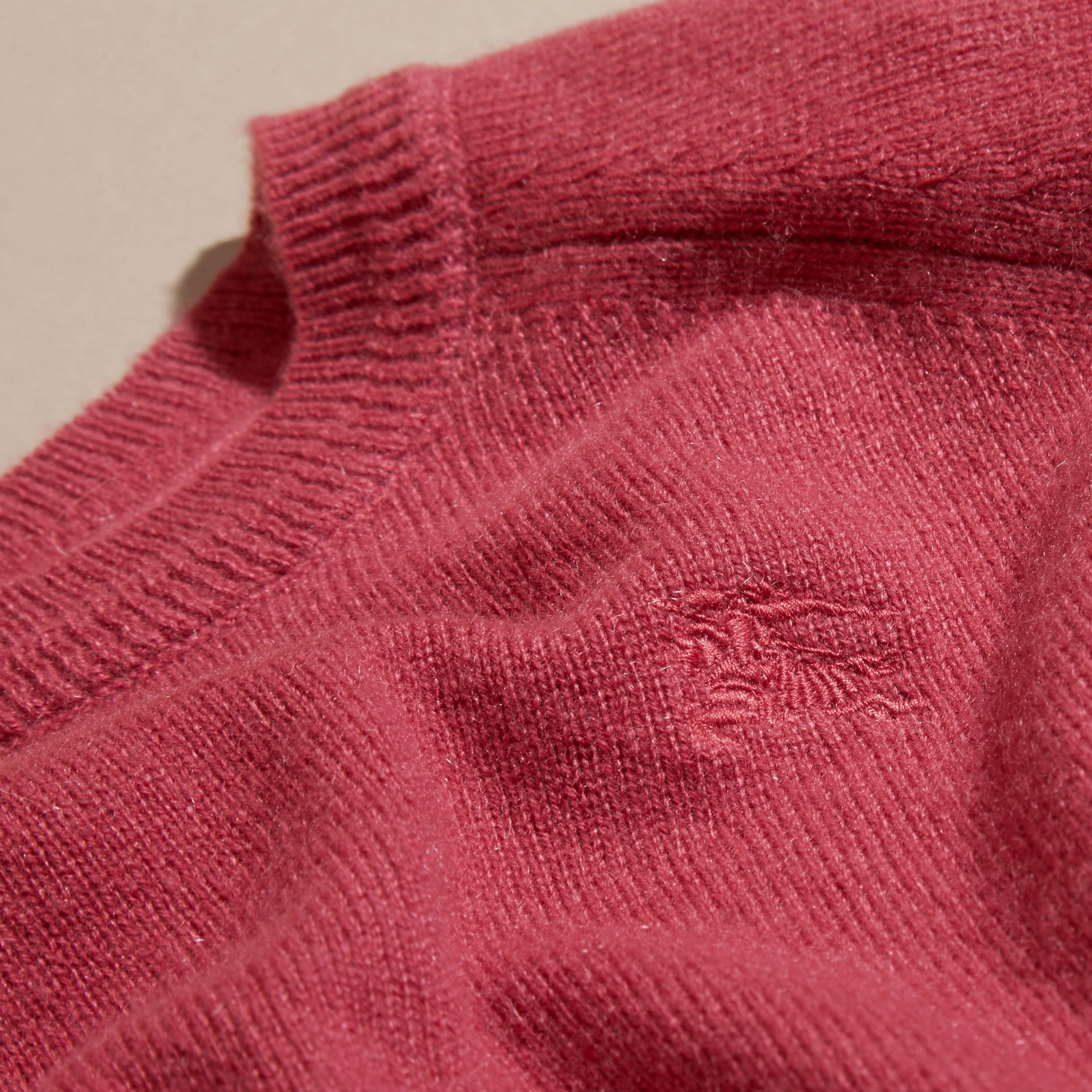 Peony rose Check Cuff Cashmere Sweater Peony Rose - gallery image 2