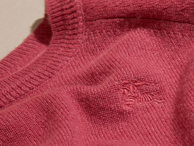 Peony rose Check Cuff Cashmere Sweater Peony Rose - cell image 1