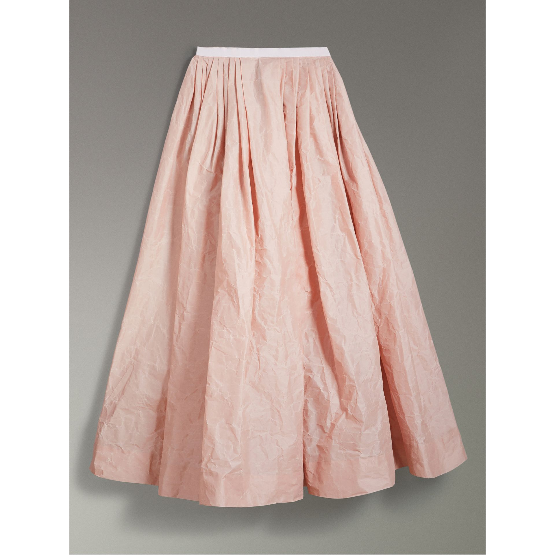 Coated Cotton Blend Maxi Skirt in Pale Rose - Women | Burberry - gallery image 3
