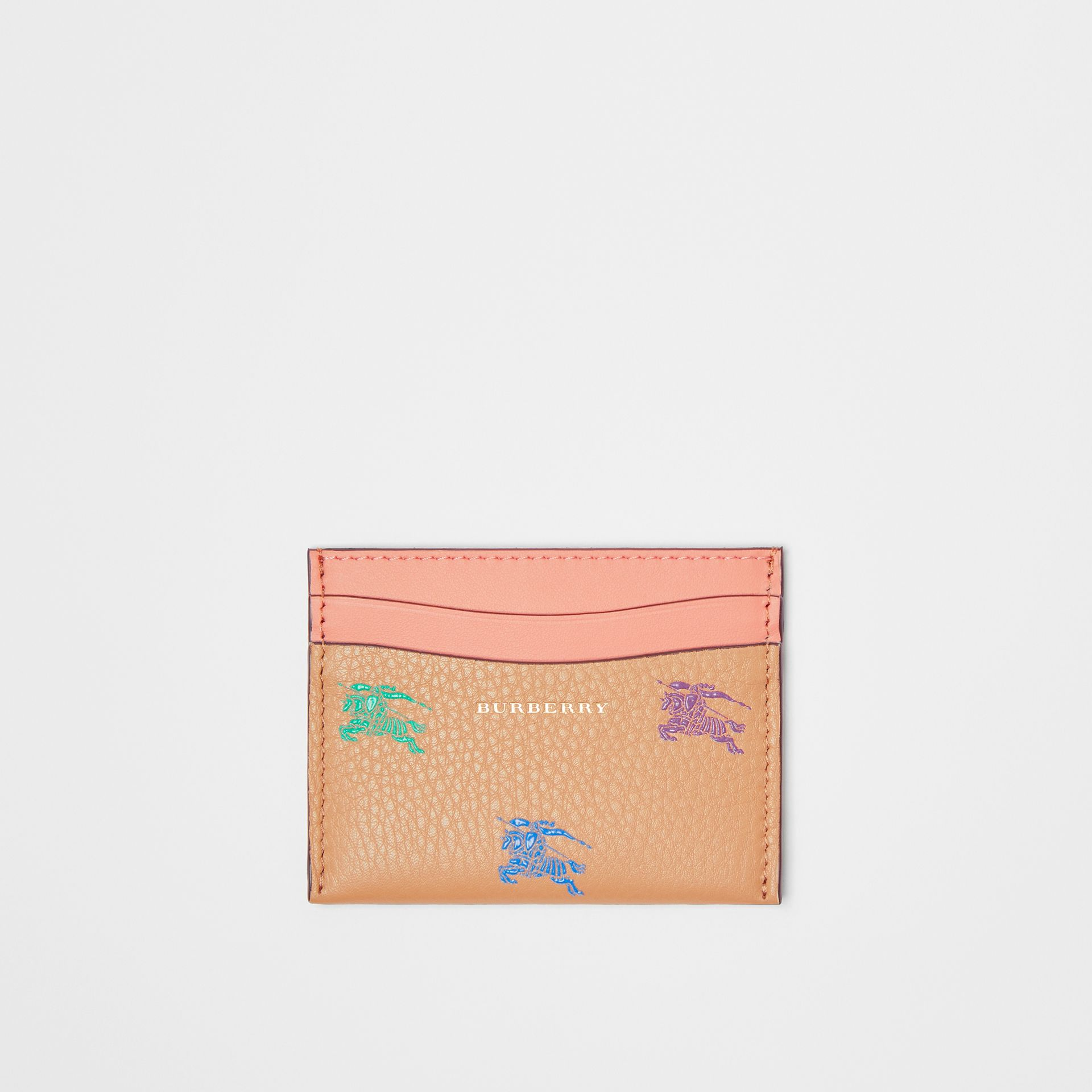 EKD Leather Card Case in Camel - Women | Burberry United States - gallery image 0
