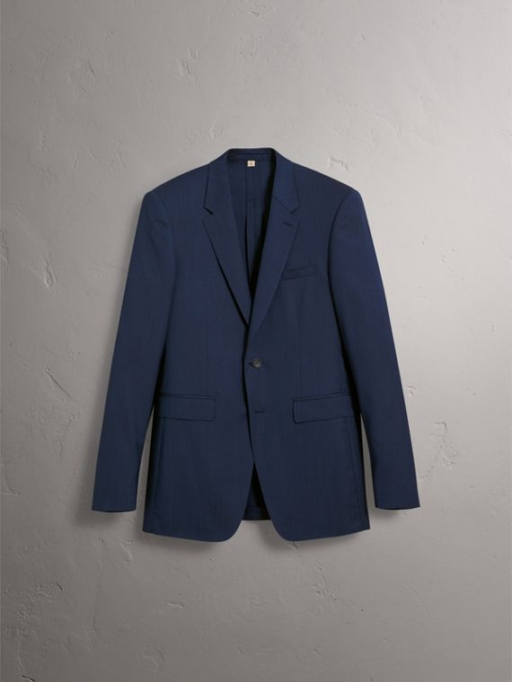 Modern Fit Stretch Wool Suit in Navy - Men | Burberry - cell image 3