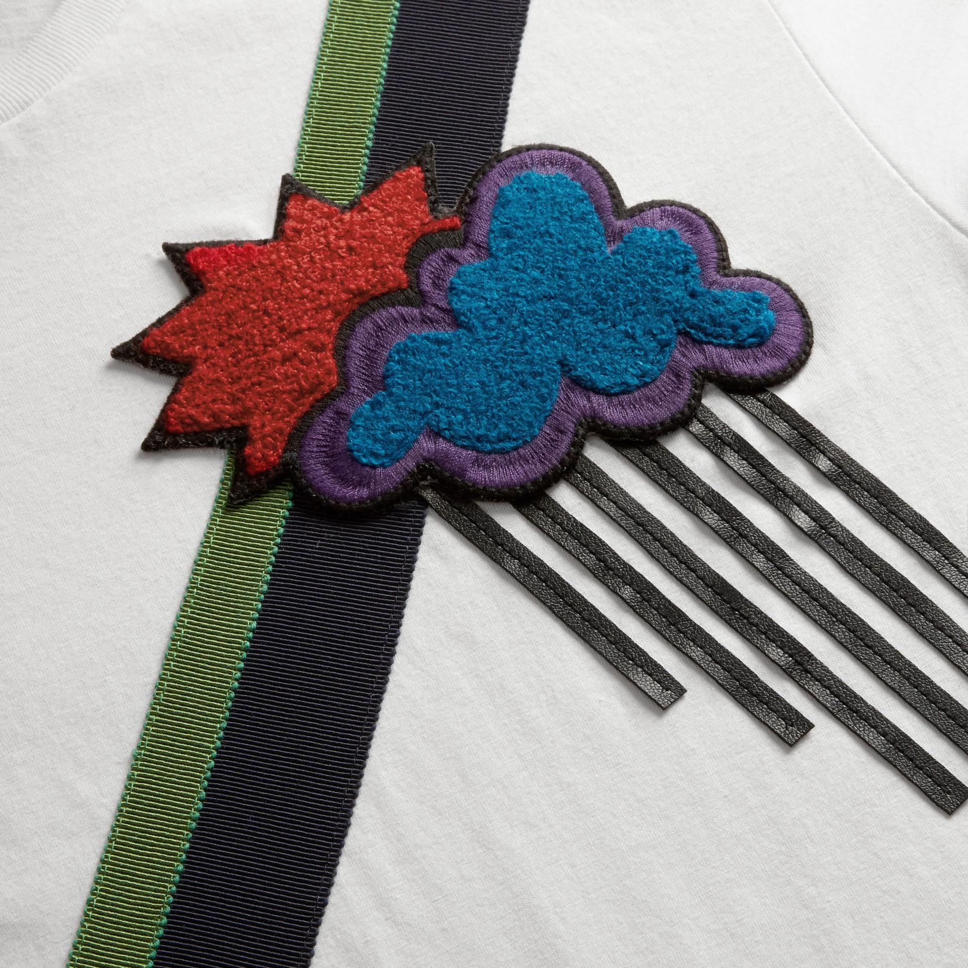 Weather Appliqué Cotton T-shirt - gallery image 2
