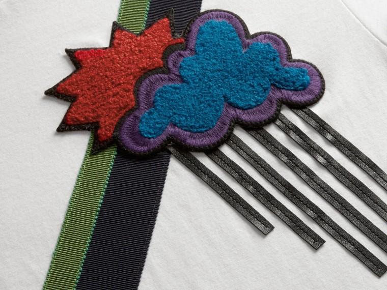Weather Appliqué Cotton T-shirt - cell image 1