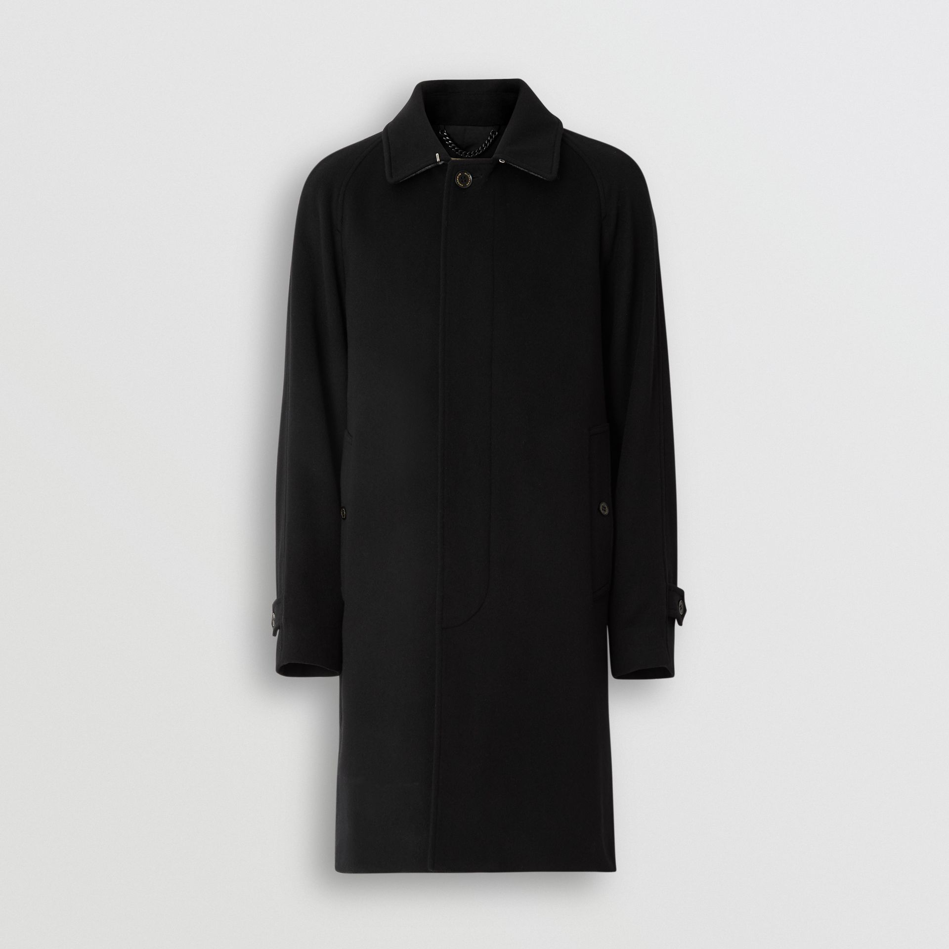 Cashmere Car Coat in Black - Men | Burberry United Kingdom - gallery image 3