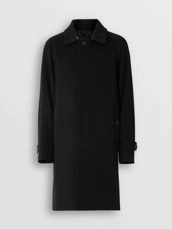 Cashmere Car Coat in Black - Men | Burberry Canada - cell image 3