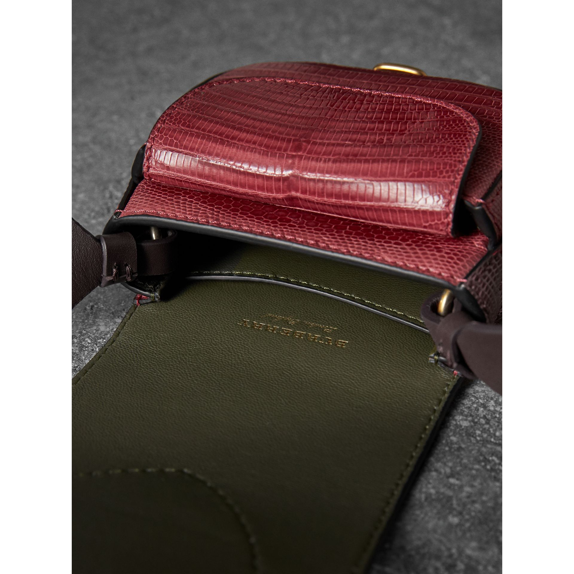 The Pocket Satchel in Lizard in Dark Crimson - Women | Burberry - gallery image 5