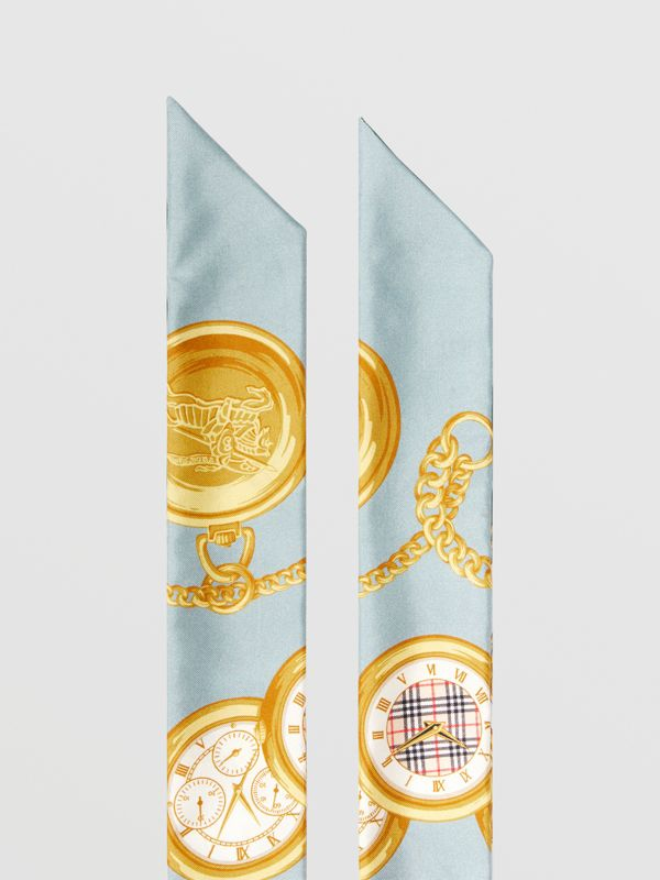 Archive Scarf Print Silk Skinny Scarf in Multicolour | Burberry - cell image 2