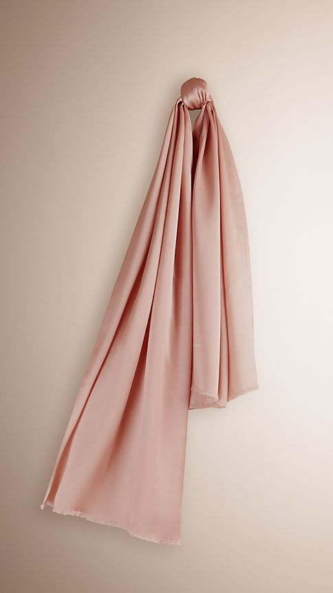 Pale english rose Reversible Silk Scarf - Image 1