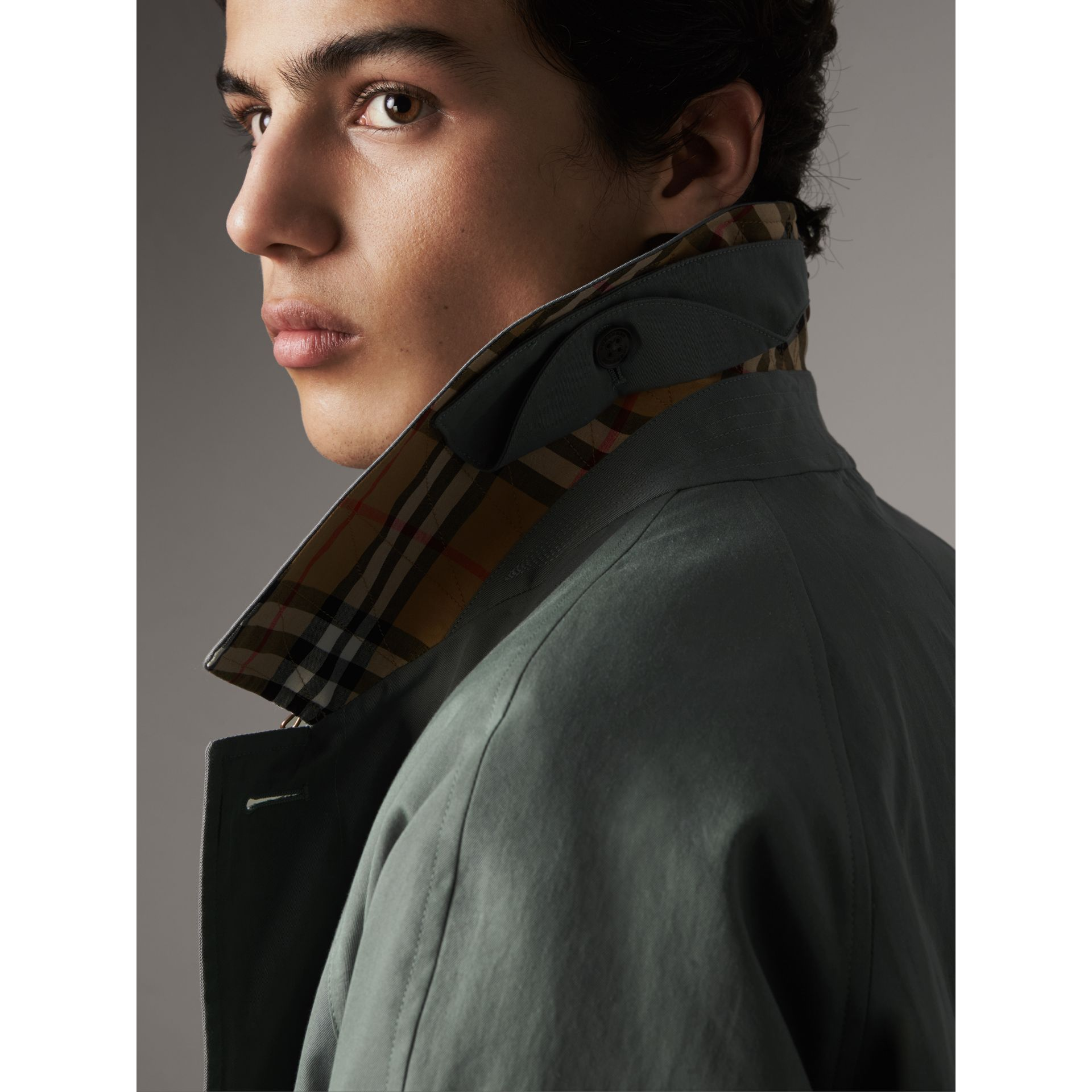 The Brighton – Extra-long Car Coat in Dusty Blue - Men | Burberry - gallery image 2