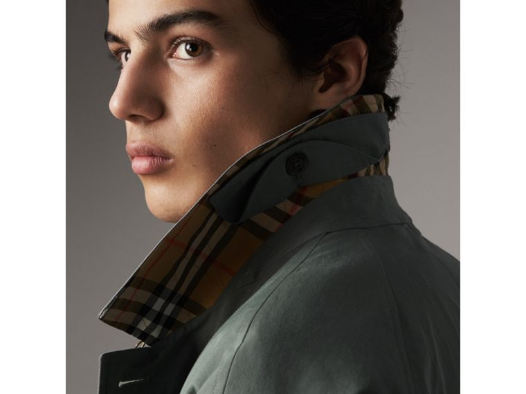The Brighton – Extra-long Car Coat – Online Exclusive in Dusty Blue - Men | Burberry Canada - cell image 1