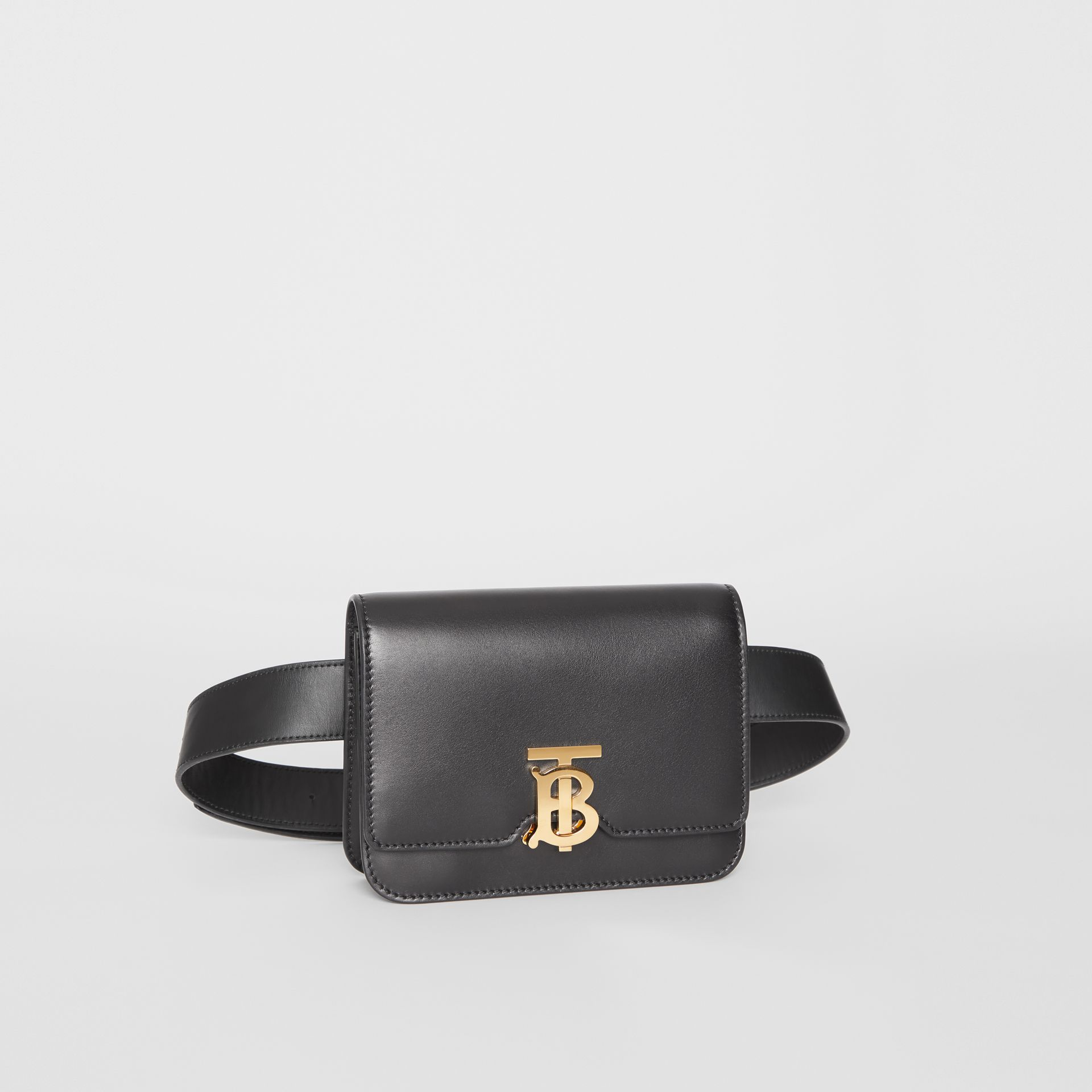 Belted Leather TB Bag in Black - Women | Burberry - gallery image 5