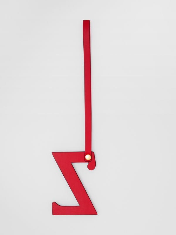 'Z' Studded Leather Alphabet Charm in Red/light Gold - Women | Burberry - cell image 2