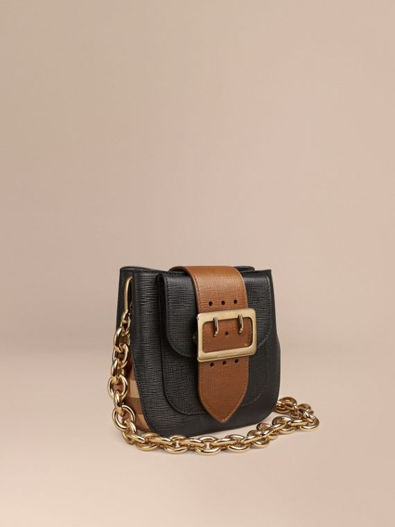 The Buckle Bag – Square in Leather and House Check
