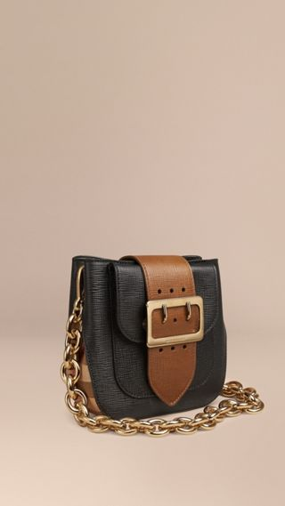 Borsa The Buckle quadrata in pelle e motivo House check