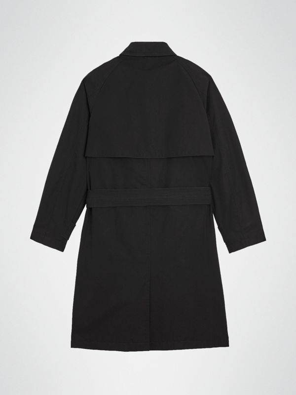 Piping Detail Tropical Gabardine Trench Coat in Black | Burberry - cell image 3