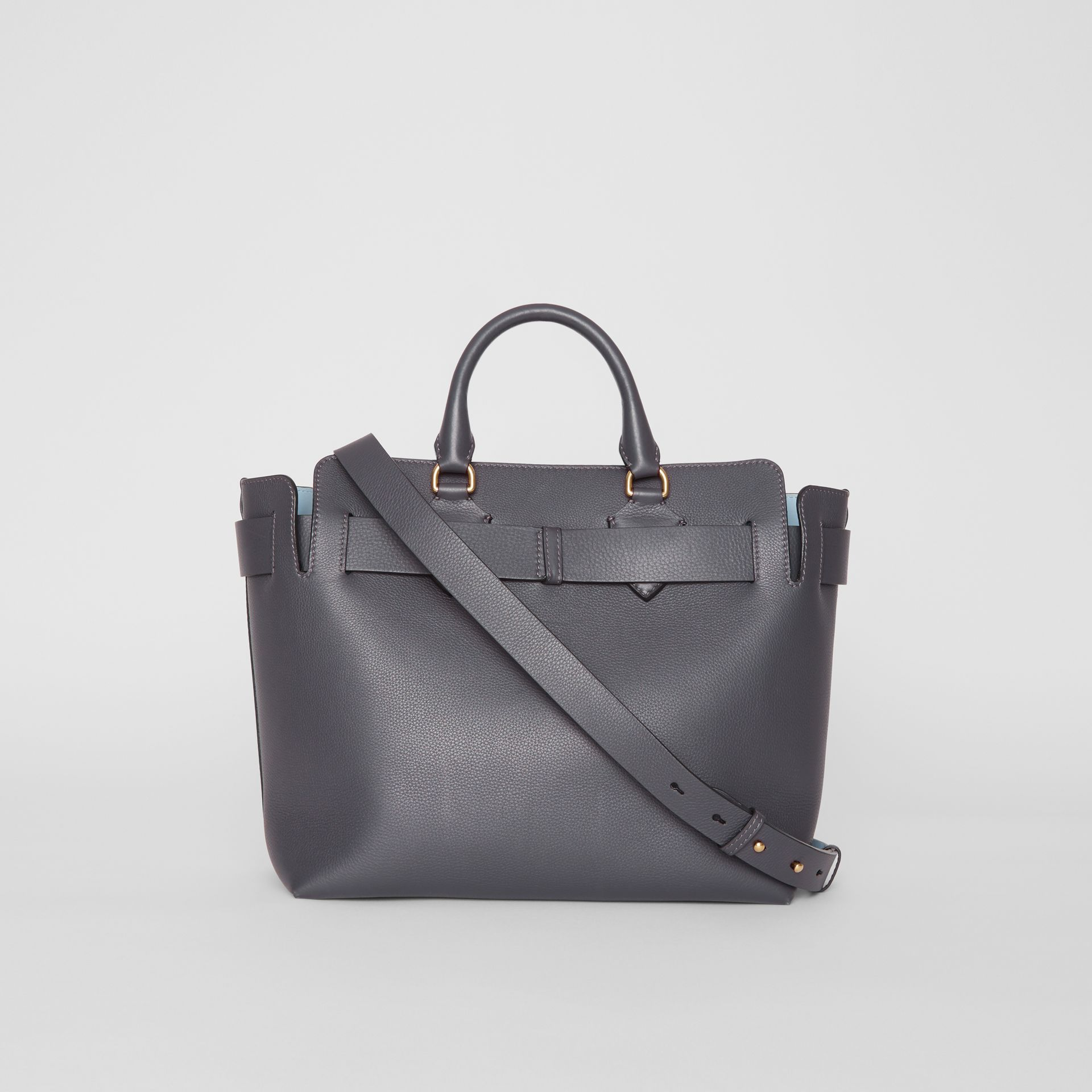 The Medium Leather Belt Bag in Charcoal Grey - Women | Burberry United States - gallery image 7