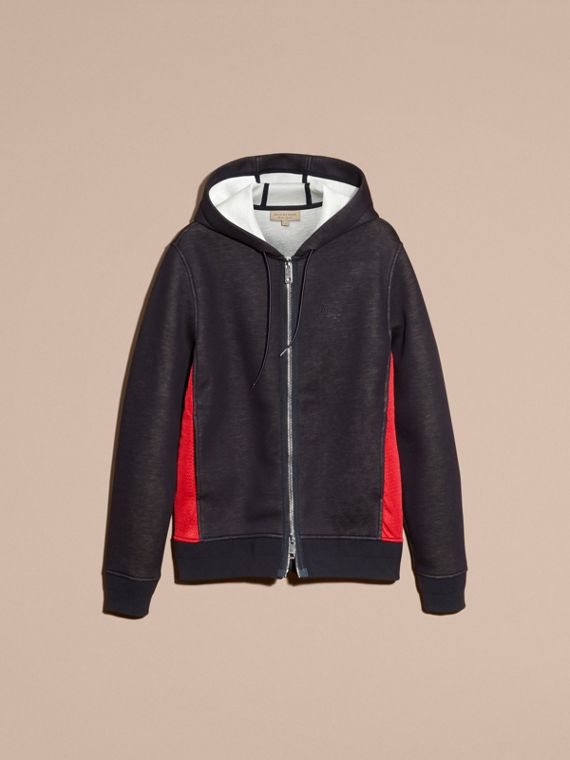 Two-tone Jersey Hooded Top Navy - cell image 3