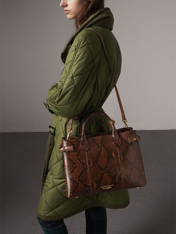 The Medium Banner in Python in Chocolate - Women | Burberry - cell image 3