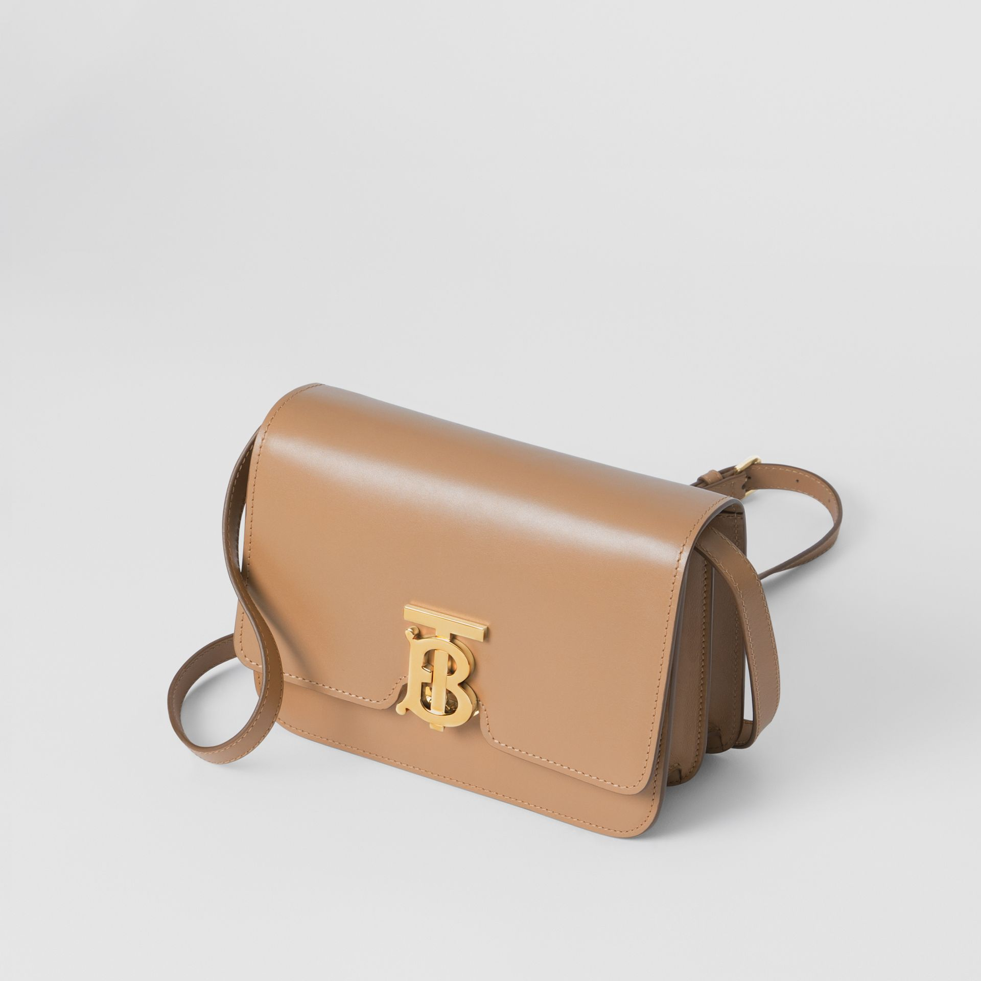 Small Leather TB Bag in Light Camel - Women | Burberry - gallery image 2