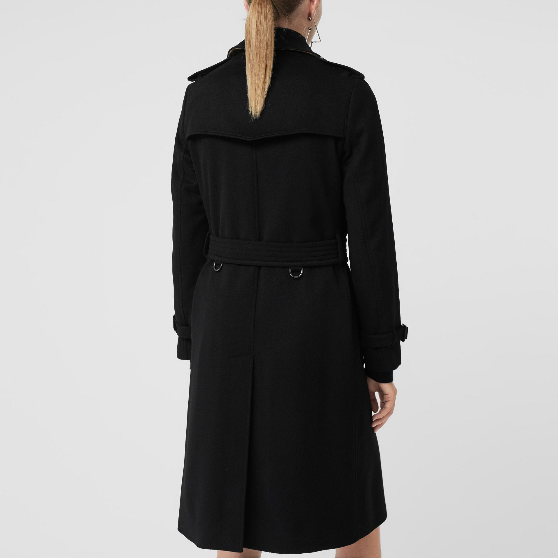 Cashmere Trench Coat in Black - Women | Burberry Hong Kong - gallery image 2