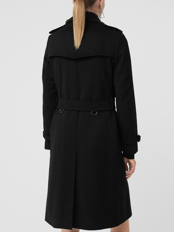 Cashmere Trench Coat in Black - Women | Burberry Hong Kong - cell image 2