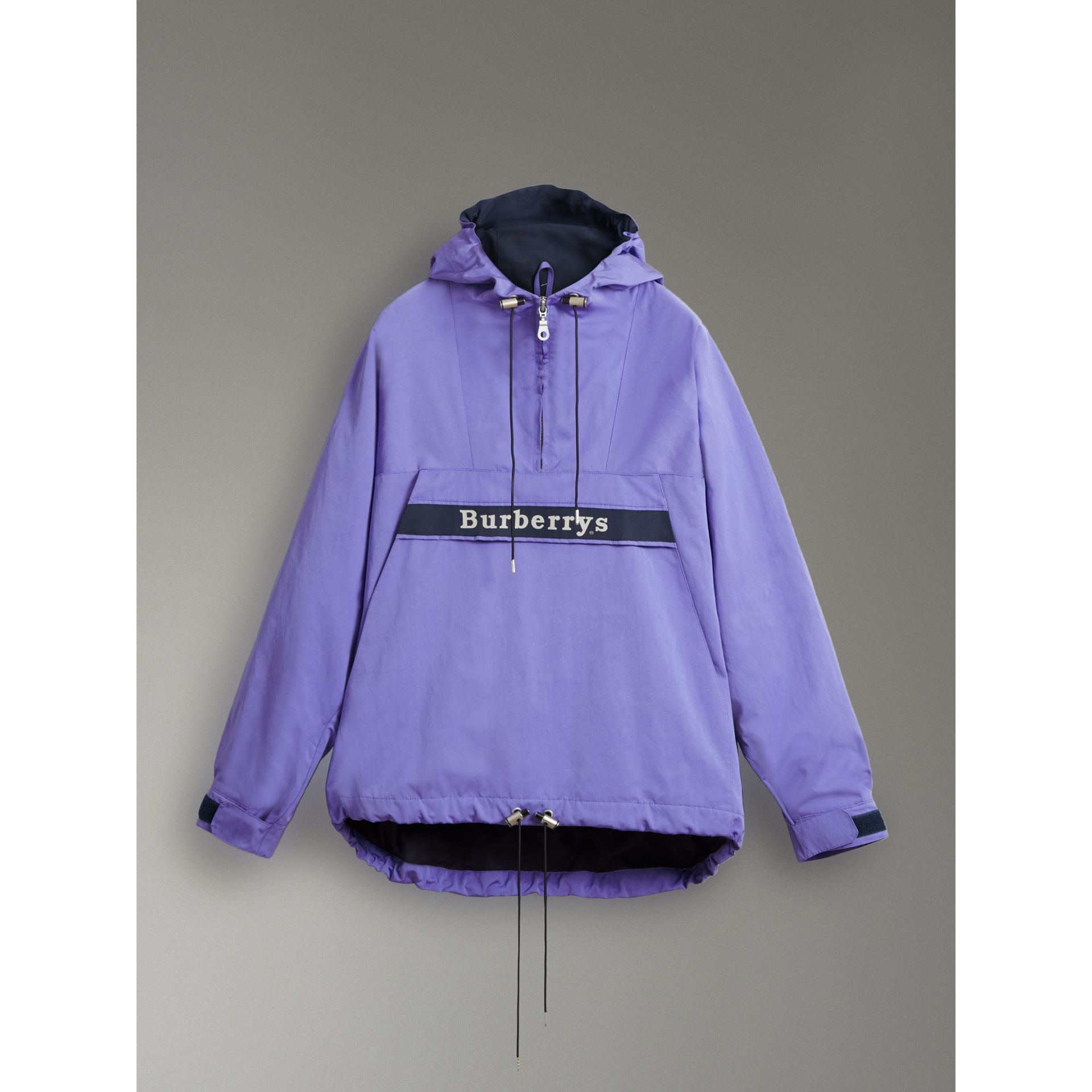 Reissued Hooded Anorak in Purple - Women | Burberry - gallery image 3