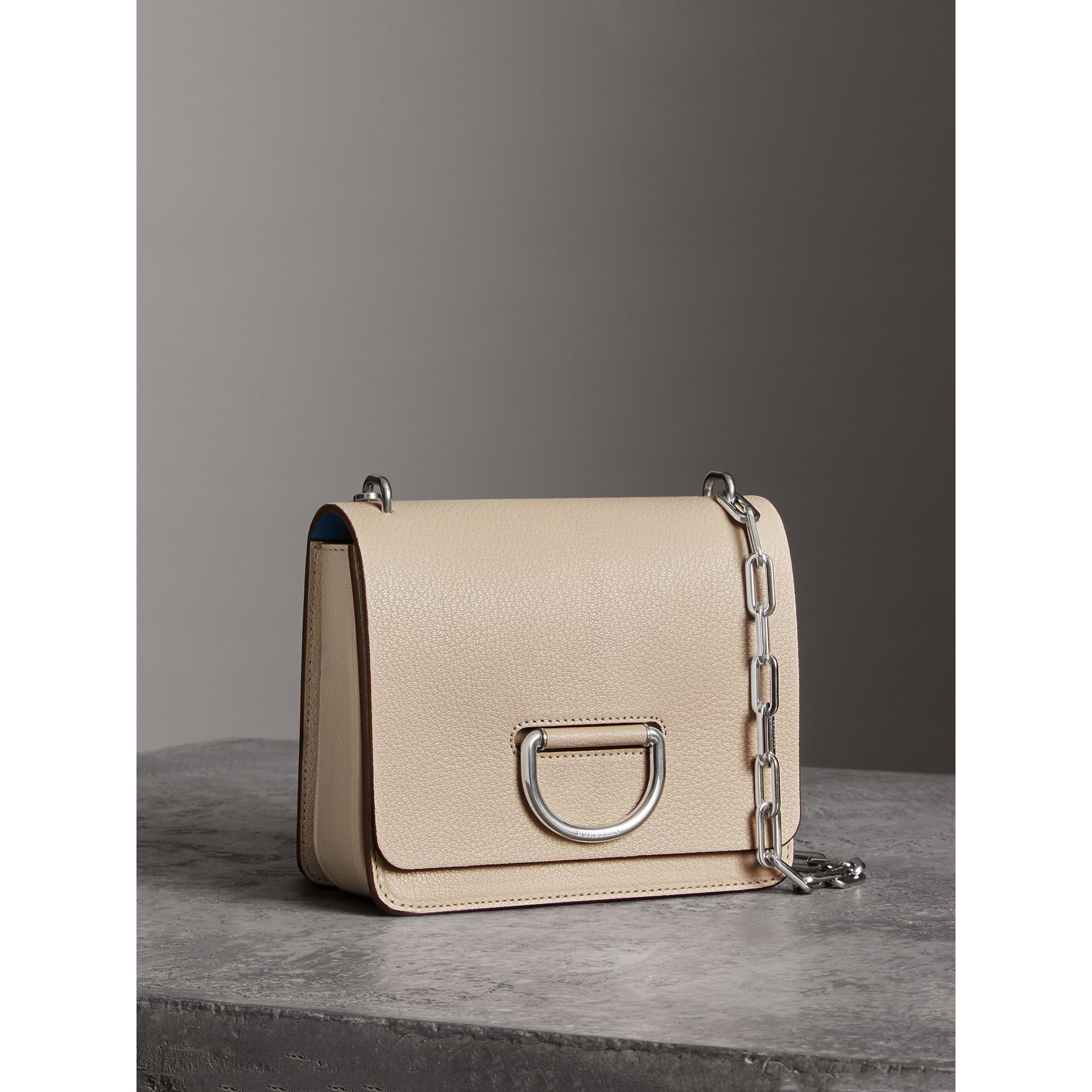 The Small Leather D-ring Bag in Stone - Women | Burberry - gallery image 6