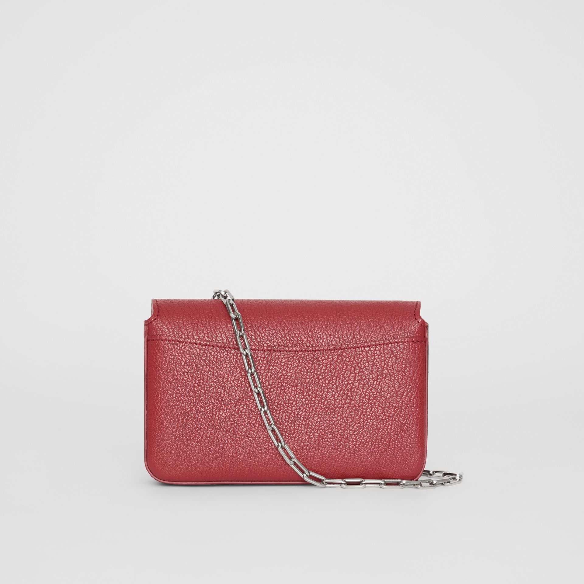 The Mini Leather D-ring Bag in Crimson - Women | Burberry Australia - gallery image 7