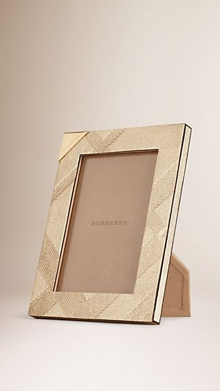 Small Embossed Check Picture Frame