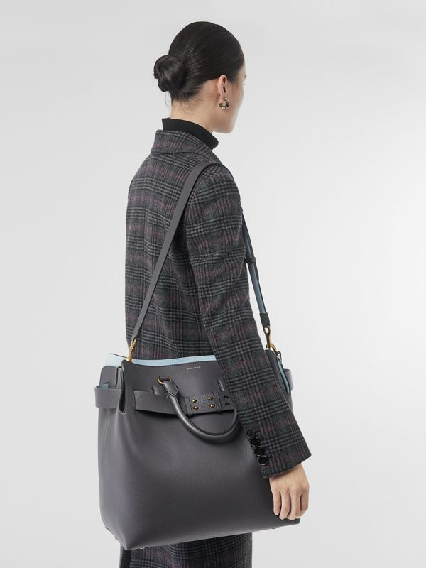 The Large Leather Belt Bag in Charcoal Grey | Burberry Australia - cell image 2