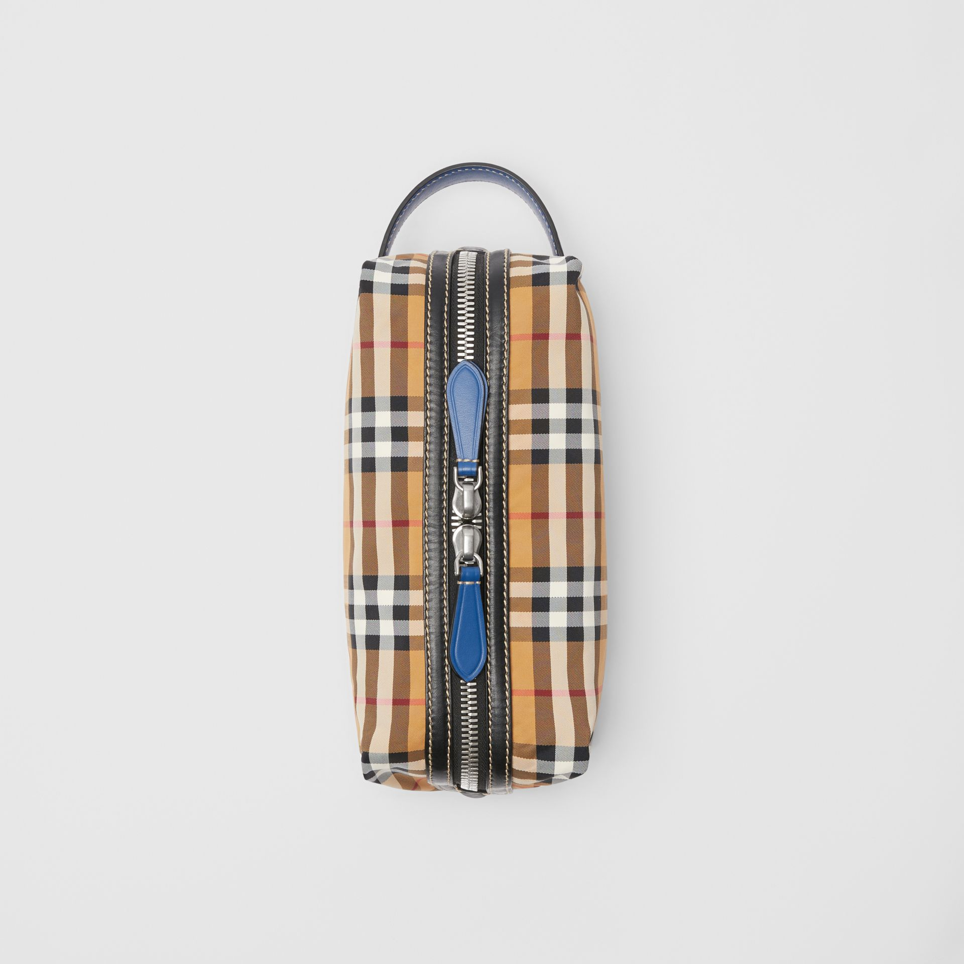 Vintage Check and Leather Pouch in Antique Yellow - Men | Burberry Australia - gallery image 0