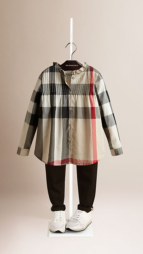 New classic check Check Frill Collar Shirt - Image 1