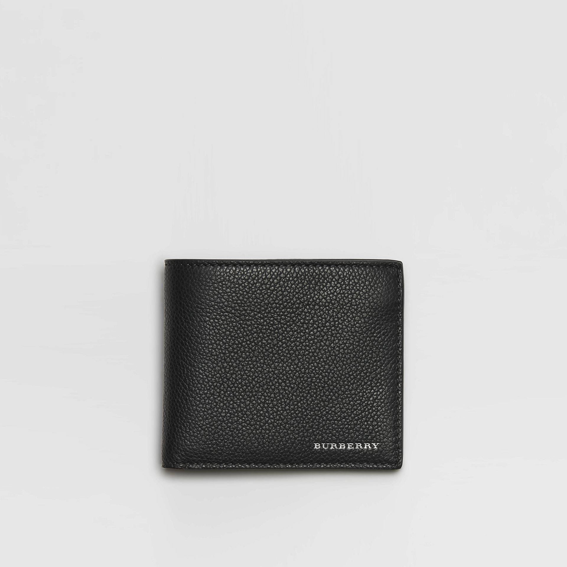 Grainy Leather International Bifold Wallet in Black - Men | Burberry - gallery image 0