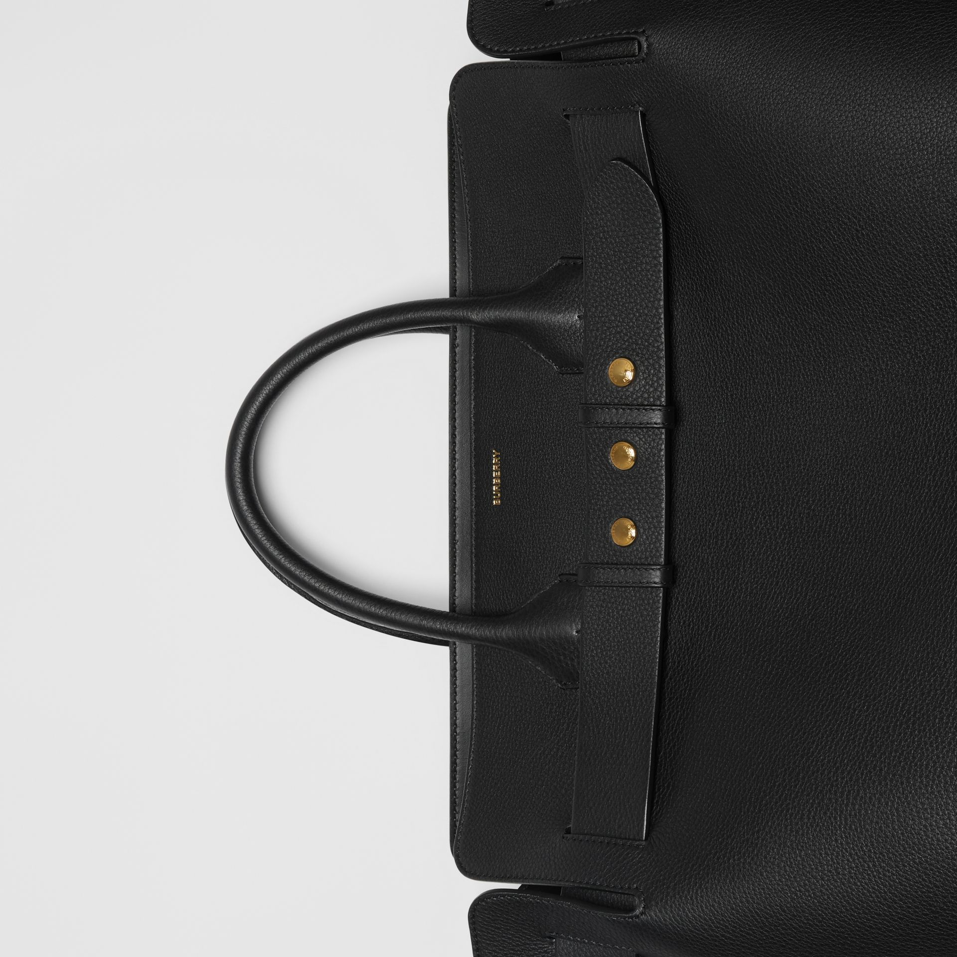 The Large Leather Triple Stud Belt Bag in Black - Women | Burberry Singapore - gallery image 10
