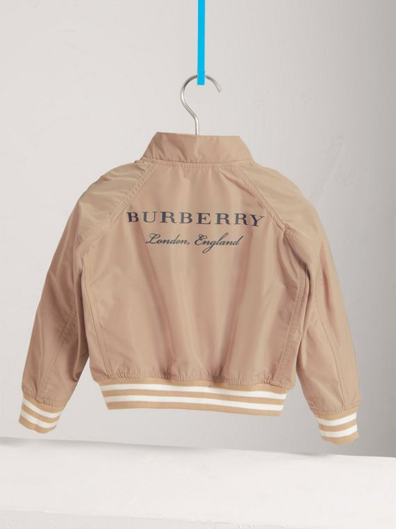 Lightweight Bomber Jacket in Stone - Boy | Burberry - cell image 3